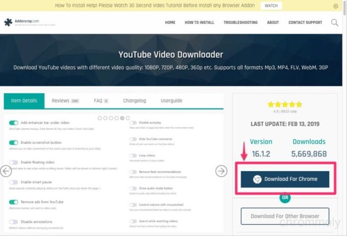YouTube Video Downloaderダウンロードサイト1