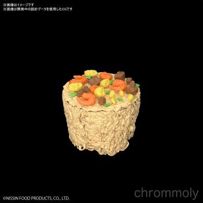 カップヌードルプラモデル麺と具